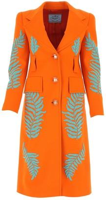 Prada Fern Embellished Coat