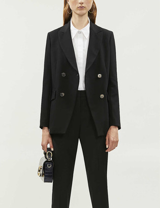Maje Voga double-breasted stretch-crepe jacket