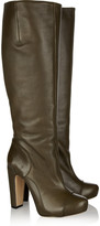 Roland Mouret Michelle textured-leather knee boots