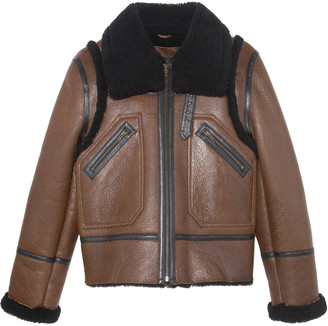 Pologeorgis The Baldwin Shearling Aviator Jacket