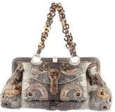 Bottega Veneta Limited Edition Ring Lizard Framed Bag
