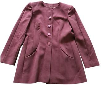 Balenciaga Purple Wool Jacket for Women Vintage