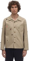 Bode CRITTER COTTON CANVAS WORK SHIRT