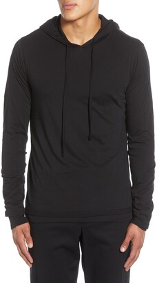 Vince Double Layer Drawstring Hoodie