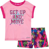 Asics Tee and Shorts Set - Preschool Girls 4-6x