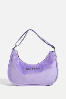 Juicy Couture Velour Shoulder Bag - Black ALL at Urban Outfitters