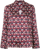 P.A.R.O.S.H. floral V-neck top - women - Polyester - M