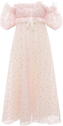 Giambattista Valli Floral Embroidered Tulle Long Dress