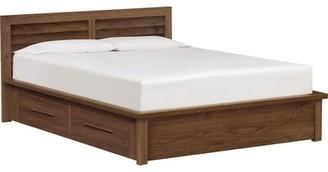 Copeland Furniture Moduluxe Clapboard Storage Platform Bed Copeland Furniture Size: Queen, Color: Cocoa Maple