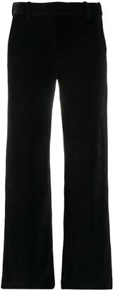 Circolo 1901 Velvet Straight-Leg Trousers