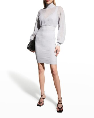 Herve Leger Illusion Knit Bandage Dress