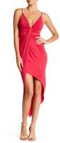Lush Front Knot Asymmetrical Dress