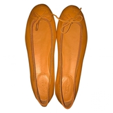 Gucci Orange Leather Ballet flats