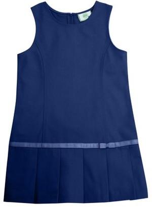 Real School Girls Plus School Uniform Drop Waist Plus Jumper (Plus)