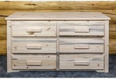 Abella 6 Drawer Double Dresser Loon Peak Color: Ready to Finish