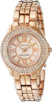 Anne Klein Women's 10/9536RMRG Swarovski Crytals Accented Rose- Tone Bracelet Mother-of-pearl Watch