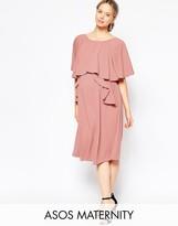 Asos Full Soft Ruffle Midi Dress