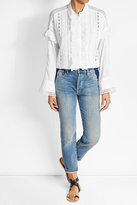 The Kooples Cotton Blouse with Cut-Out Detail