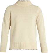 MiH Jeans Tipped Guernsey high-neck cashmere sweater