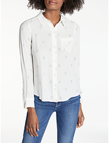 Rails Kate Printed Silk Shirt, Rainbow Pineapple