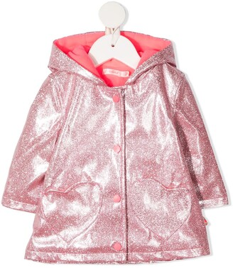Billieblush Glitter-Detail Rain Jacket