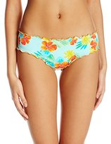 Hobie Women's Tropical Locales Scalloped Hipster Bikini Bottom