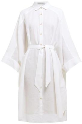Palmer Harding Palmer//Harding Palmer//harding - Serra Wide-sleeve Linen Shirtdress - Womens - White