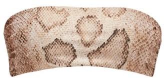 Mara Hoffman Abigail Snake-print Bandeau Bikini Top - Cream Print