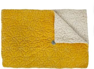 Projektityyny - Tahti Velvet Quilt Mustard - Yellow