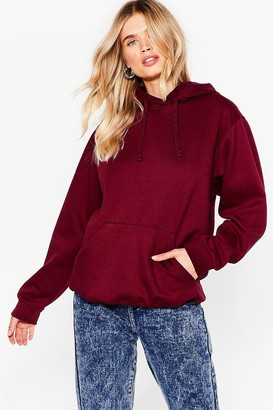 Nasty Gal Womens The Wait is Over-sized Hoodie - Burgundy