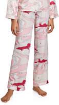Morgan Lane Chantal Swirl Silk Pajama Pants