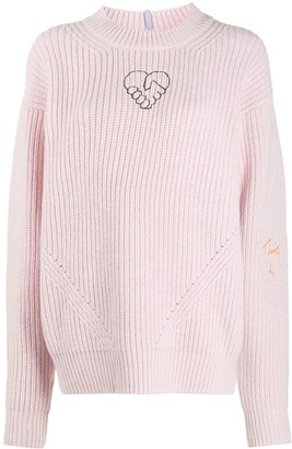 McQ Embroidered Heart Jumper