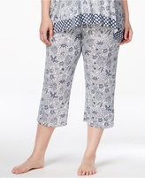 Ellen Tracy Plus Size Cropped Pajama Pants