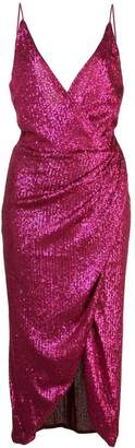Jonathan Simkhai sequined V-neck wrap dress