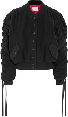Preen by Thornton Bregazzi Clarice Wool And Cashmere-blend Felt Bomber Jacket