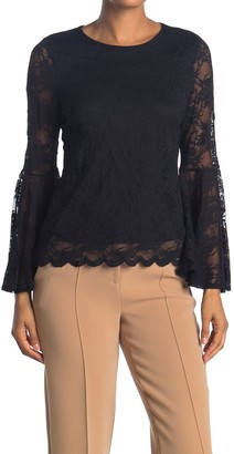 Vince Camuto Bell Sleeve Knit Stretch Top