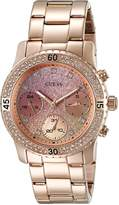 GUESS GUESS? Women's U0774L3 Rose Gold-Tone Watch with Pink Multi-Function Dial