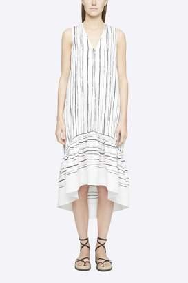3.1 Phillip Lim Painted Stripe Sleeveless Dress