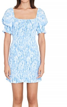 Faithfull The Brand Magnolia Mini Bodycon Dress