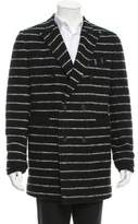 Band Of Outsiders Double-Breasted Stripe Coat