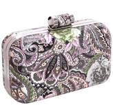 BMC Floral Hard Case Detachable Chain Party Fashion Clutch Handbag