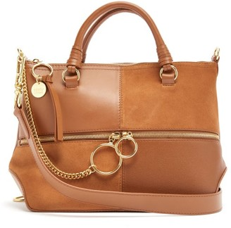See by Chloe Emy Medium Suede And Leather Bag - Womens - Tan