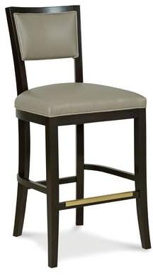 "Fairfield Chair Hale Bar & Counter Stool Fairfield Chair Body Fabric: 8789 Stone, Frame Color: French Oak, Seat Height: Bar Stool (30"" Seat Height)"