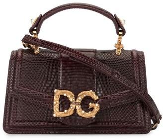 Dolce & Gabbana mini Amore snakeskin effect bag