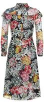 Burberry Painterly Floral Silk Dress