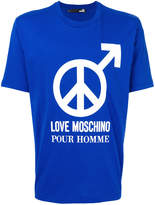 Love Moschino pour homme print T-shirt