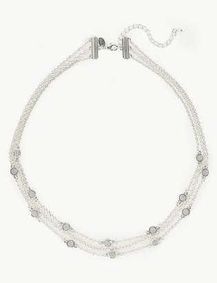 M&S CollectionMarks and Spencer Multi Row Glitter Stud Necklace