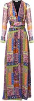 Matthew Williamson Belvoir Tapestry Long Sleeve Silk Maxi Dress