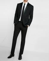 Express Slim Black Cotton Sateen Tuxedo Jacket