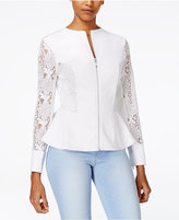 XOXO Juniors' Lace Peplum Blazer